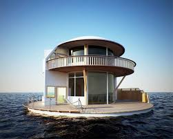 stunning floating lake house design concept with wooden fence