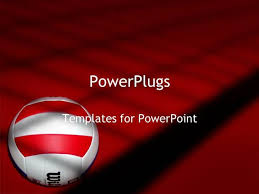 volleyball powerpoint template young holding volleyball