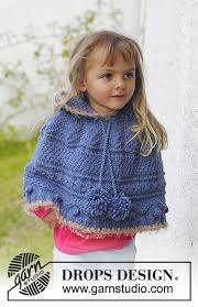 drops design poncho hermione drops children 23 47 free knitting patterns by drops