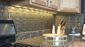 Tin Tiles For Kitchen Backsplash - Metal kitchen backsplash
