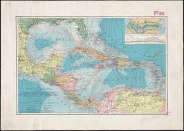 Map Of The Caribbean Map Of Central America Cuba Porto Rico And The Islands Of The