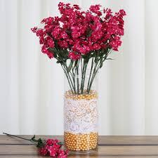 Fake Bushes Balsacircle 12 Bushes Baby Breath Silk Filler Flowers For Wedding