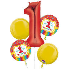 1st birthday 1st birthday balloon bouquet delivered inflated in uk