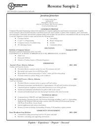 Example Of Professional Resume A Good Job Resume Example