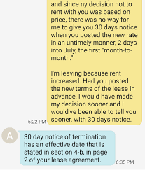 Terminate Lease Letter Terminated Month To Month Landlord Demanding Extra Month U0027s Rent