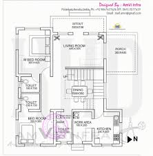 awesome floor plan and elevation of flat roof villa kerala home