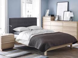 Glossy White Dresser Bedroom Black Foamy Bench Grey With White Polkadot Bed Sheet