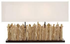 driftwood twig table lamp beach style table lamps by