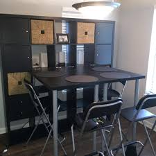 24 ikea kallax shelving unit in black brown with tables attached 24 ikea kallax shelving unit in black brown with tables attached for a small apartment dining dining room wall unit cabinets bright ikea kallax shelving