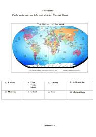 worksheets on locating places on a map geography and history