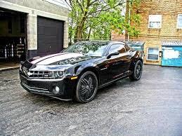 black camaro with black rims diablo black w chrome inserton chevy camaro wheels