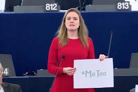 metoo members of the european parliament protest against sexual