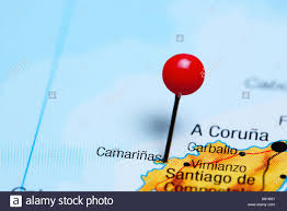 A Map Of Spain by Camarinas Pinned On A Map Of Spain Stock Photo Royalty Free Image