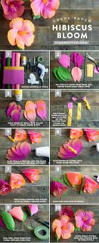 pattern making tissue paper crepe paper hibiscus flower
