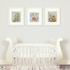 rabbit nursery wall set 1