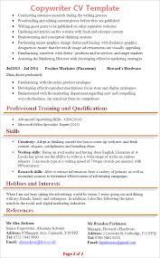 ms office cv format copywriter cv template tips and download cv plaza
