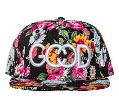 floral snapback the society black floral snapback hat