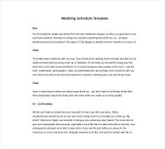 11 wedding schedule templates free pdf doc format download