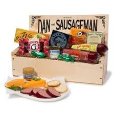 salmon gift basket dan the sausageman s favorite gourmet gift basket featuring dan s