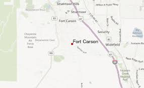 fort carson map fort carson location guide