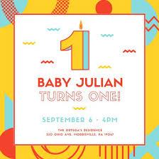 1st birthday invitation templates canva