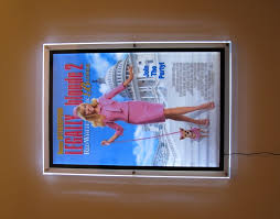lighted movie poster frame edge glow illuminated poster case
