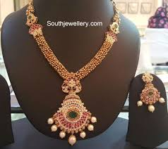 antique jewelry necklace sets images Antique gold necklace set jewellery designs jpg