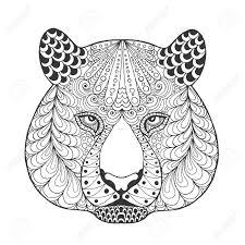 papier peint a colorier tête de tigre adulte page à colorier antistress main blanche
