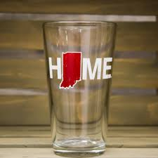 indiana pint glass home design red u2013 my state threads