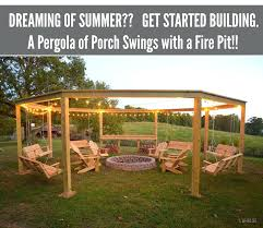 swing pergola fire pits how to make a pergola of porch fire pit hexagonal