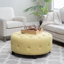 coffee table belham living teagan round tufted ottoman hayneedle