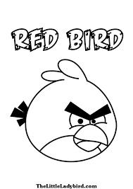 free red angry bird coloring thelittleladybird