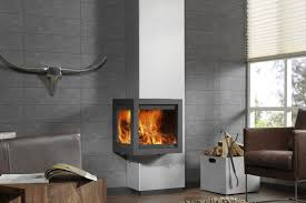 wood fireplace contemporary closed hearth hanging circulaire piros