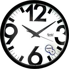 wall watch ajanta analog wall clock black with glass 2617 jantacart com