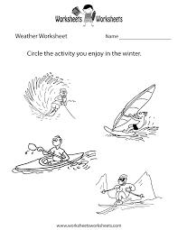 Kindergarten Weather Worksheets Weather Worksheet For Printable Worksheets