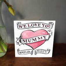personalised hand drawn mother u0027s day or birthday card hand drawn