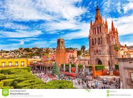 San Miguel De Allende Mexico Map by Parroquia Rafael Churches Jardin San Miguel De Allende Mexico