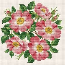 maurer stroh roses bouquet cross stitch pattern