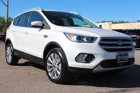 ford crossover escape 2017 ford escape titanium in white platinum at eau claire ford