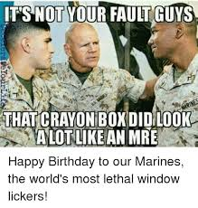 Window Licker Meme - its not your fault guys that crayon boxdidlook alot like an mre