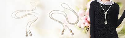 pearl charm necklace images Women 39 s imitation pearl necklaces flapper long jpg