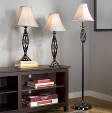 andover mills dunrobin 3 piece table and floor lamp set u0026 reviews
