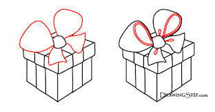 gift boxes with bow gift boxes drawing