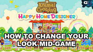 animal crossing happy home designer how to change your look mid