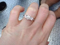 3 engagement rings show time show me your three engagement rings weddingbee