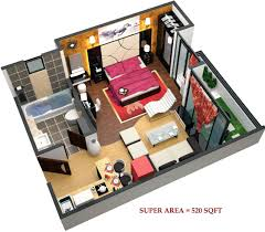 520 sq ft 1 bhk 1t apartment for sale in exalter group himalaya