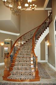Wooden Banister Interior Wooden Railing Stairs For Lovely Home Unvarnished Brown