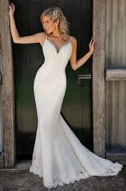 spaghetti wedding dress spaghetti straps v neck lace mermaid wedding dress dresses