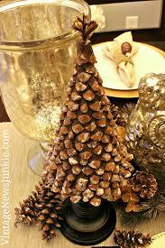 handmade pinecone christmas tree 12 days of diy trees