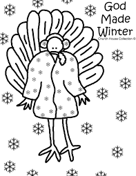 god winter turkey coloring